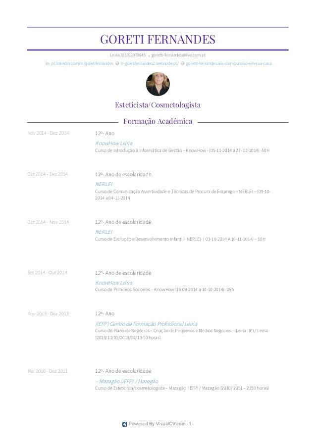 GORETI FERNANDES Leiria351911978645 • goretti-fernandes@live.com.pt  pt.linkedin.com/in/goretifernandes  lr-goretifernan...