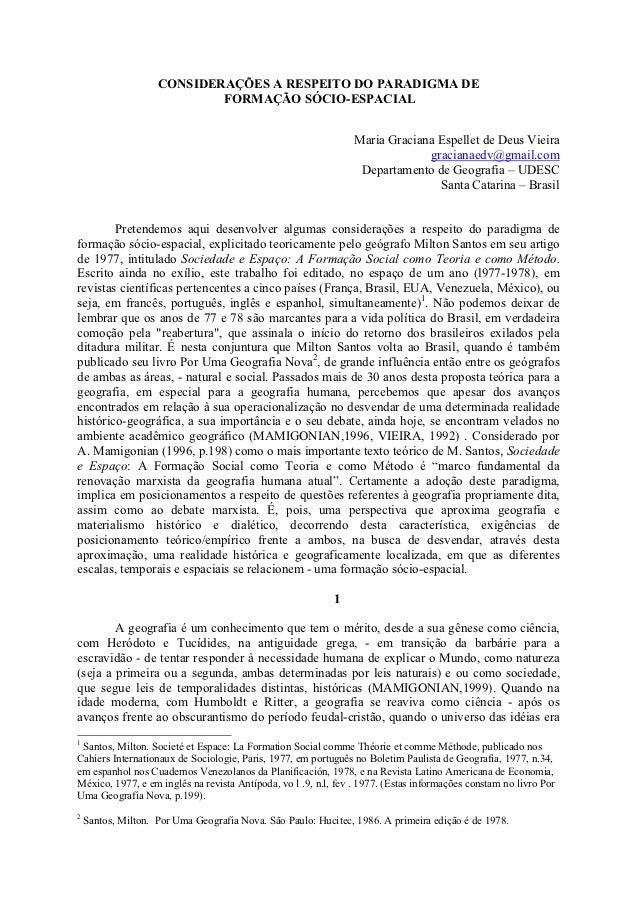 CONSIDERAÇÕES A RESPEITO DO PARADIGMA DE                            FORMAÇÃO SÓCIO-ESPACIAL                               ...