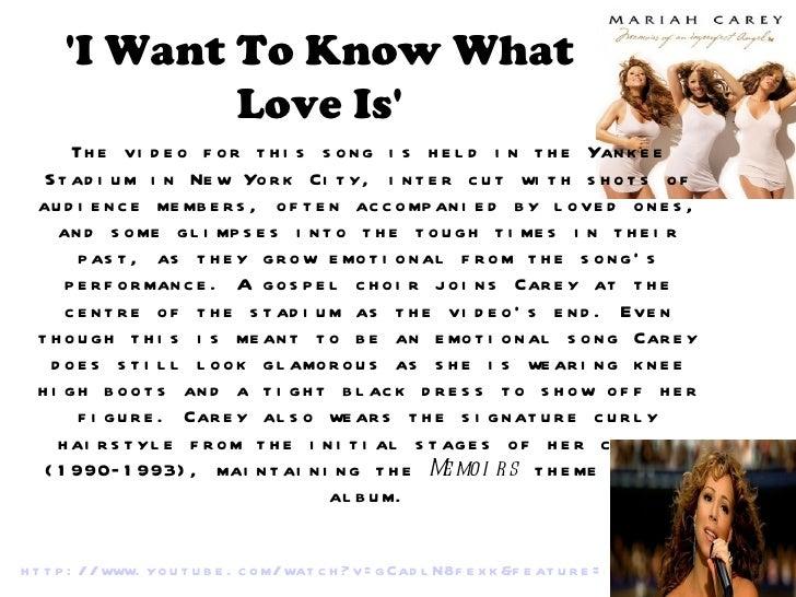 I wanna what love is lyrics