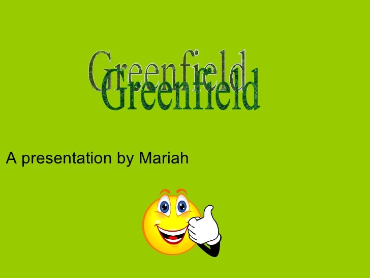 A presentation by Mariah  Greenfield