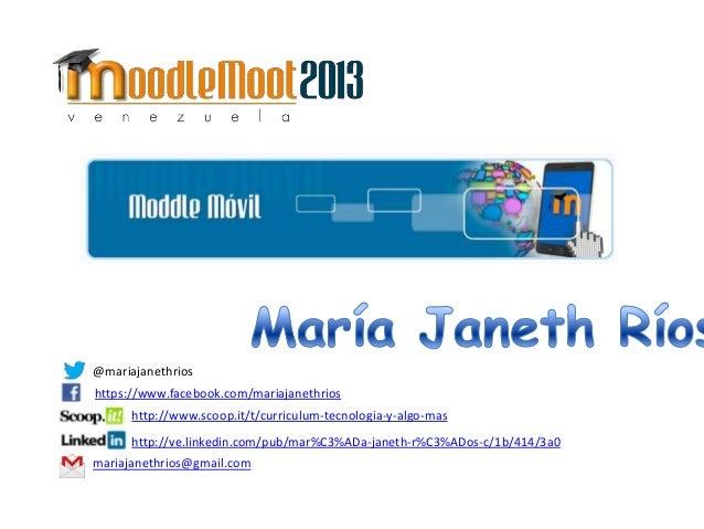 @mariajanethrios https://www.facebook.com/mariajanethrios http://www.scoop.it/t/curriculum-tecnologia-y-algo-mas http://ve...