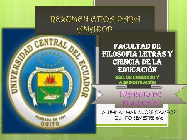 FACULTAD DEFILOSOFIA LETRAS Y   CIENCIA DE LA     EDUCACIÓN    ESC. DE COMERCIO Y     ADMINISTRACIÓN     TRABAJO DE      F...