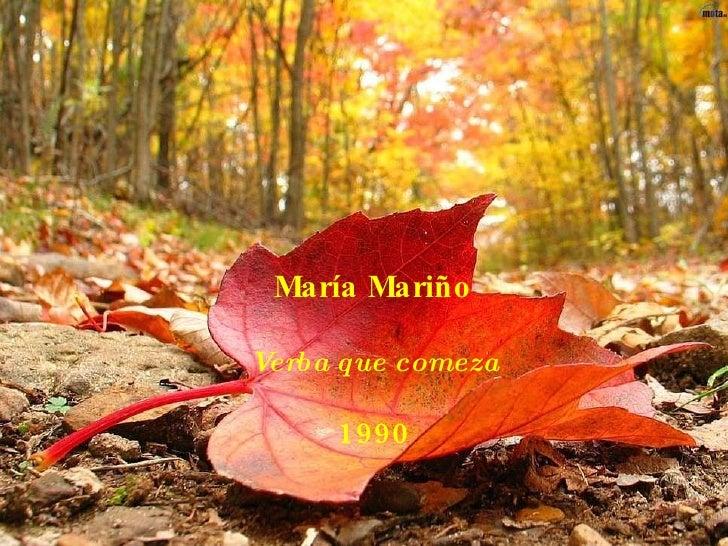 María Mariño Verba que comeza 1990