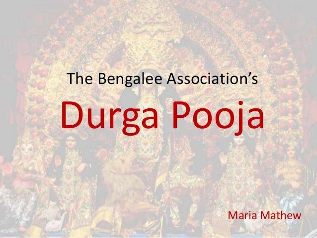 The Bengalee Association's  Durga Pooja Maria Mathew