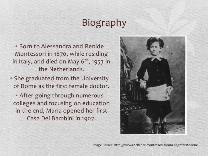 discoveries of child made by dr maria montessori Book: the discovery of the child  principles of the montessori approach to education, which was based on a series of genuine discoveries of dr maria montessori.