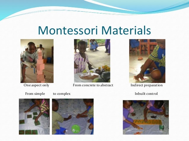 indirect preparation montessori Work starts from the concrete presentation – in preparation for the abstract work  has  within the montessori materials there is a direct aim and indirect aim.