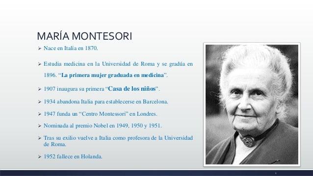 MARÍA MONTESSORI Slide 3