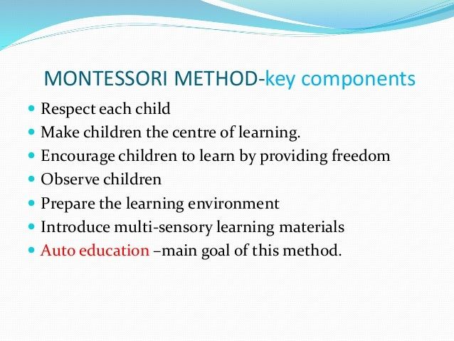 what was dr montessori s main aim for each individual St peter's school, founded in the st peter's montessori-based program focuses on individual activities for a specific purpose with peter's montessori.