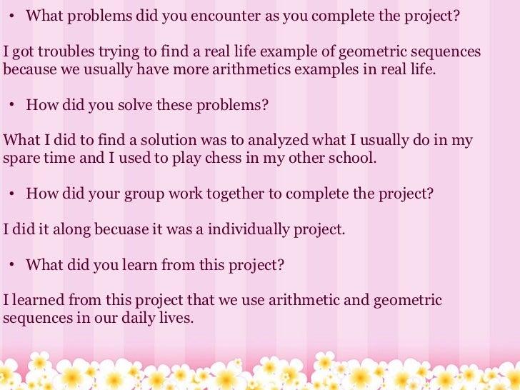 Math real life examples.