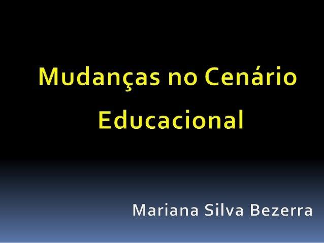 Diversas mudanças já aconteceram no cenário Educacional e permanece em constante transformação por meio das Tecnologias Di...