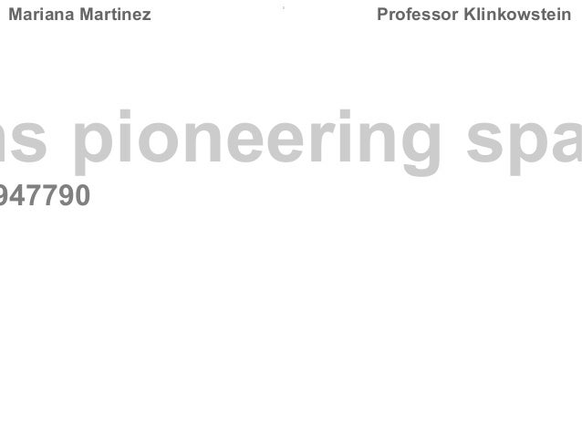 Mariana Martinez    Professor Klinkowstein  ms pioneering spa  947790