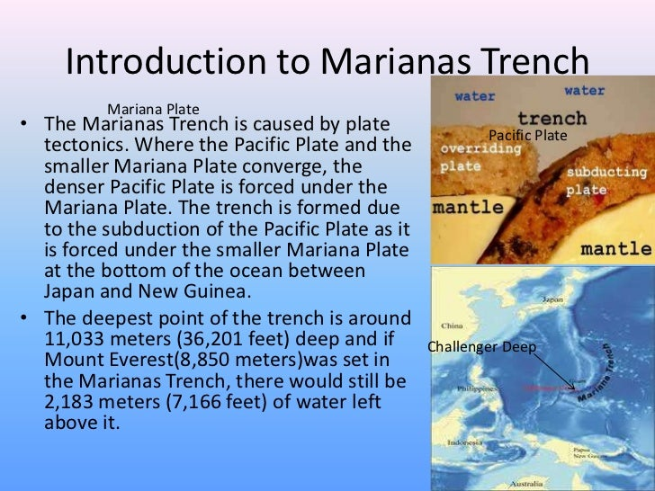 a overview of mariana trench the deepest known trench to mankind Students read about the establishment of the mariana trench marine protecting the mariana trench trench (it contains the deepest known.