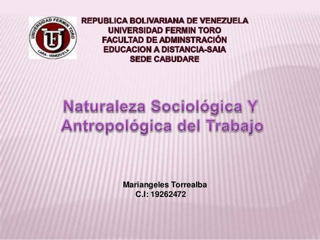 Mariangeles TorrealbaC.I: 19262472