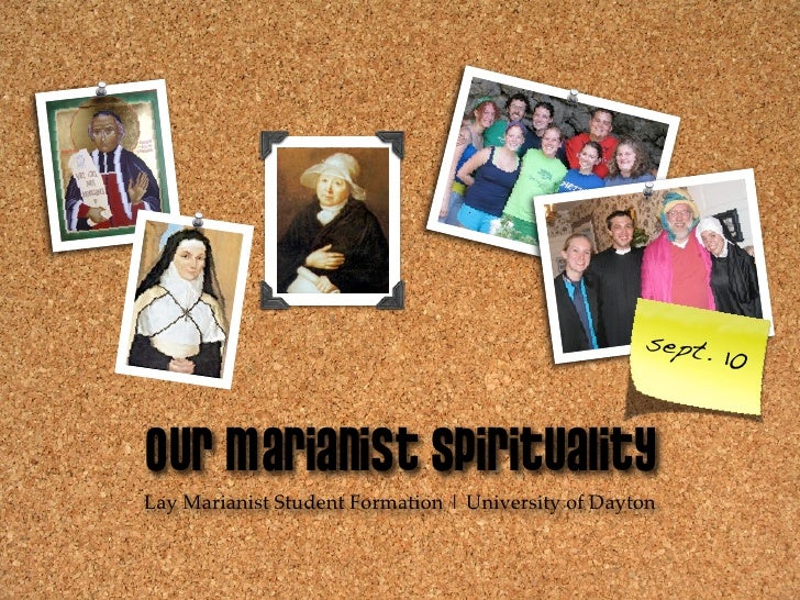 sept.                                                             10   Our Marianist Spirituality Lay Marianist Student Fo...