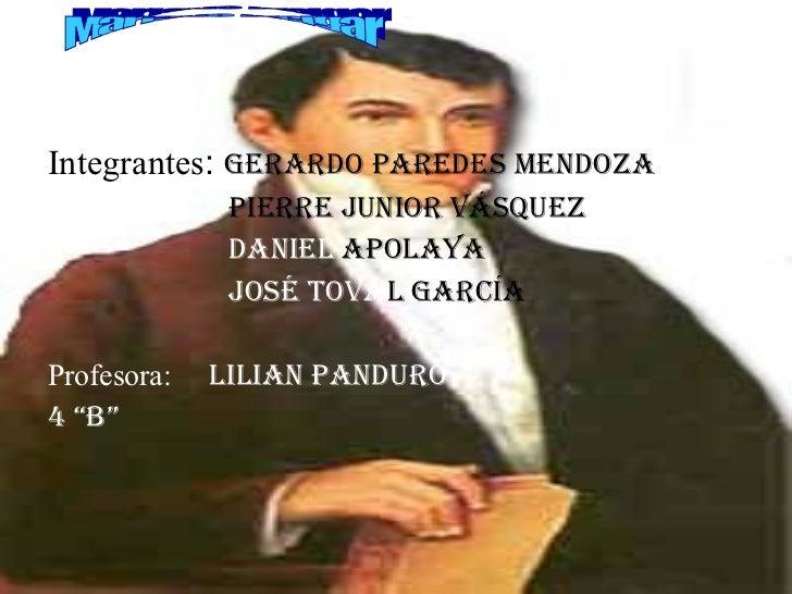 <ul><li>Integrantes :  Gerardo Paredes Mendoza </li></ul><ul><li>  Pierre Junior Vásquez  </li></ul><ul><li>  Daniel  Apol...