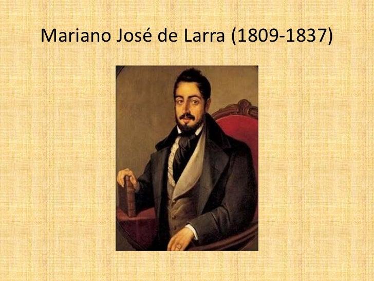 Mariano José De Larra 1809 1837