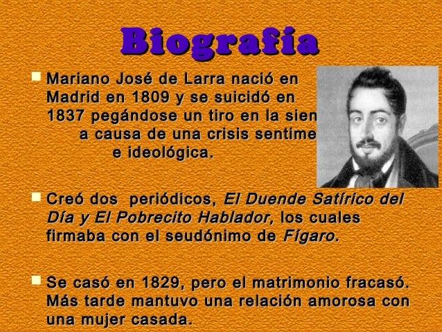 Los artículos▪ Larra es conocido por sus numerosos artículos periodísticos. La gran parte de sus obras están escritas de f...