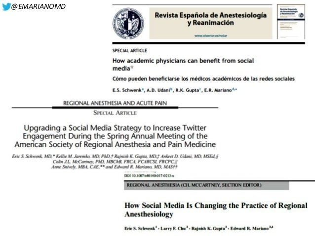 Regional Anesthesia Education and Social Media