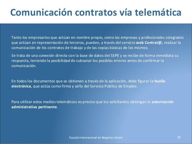 Mariano salinas obligaciones del empresario frente a las for Oficina electronica sepe