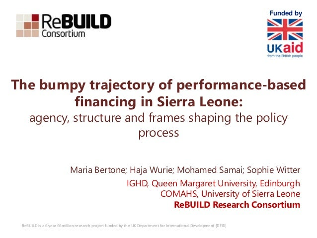 ReBUILD is a 6 year £6million research project funded by the UK Department for International Development (DFID) The bumpy ...