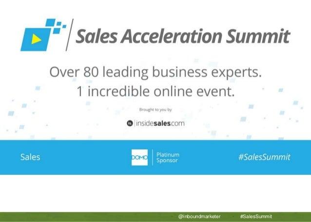 APTTUS 5 Secrets to Sales Operations Success • @inboundmarketer • #SalesSummit