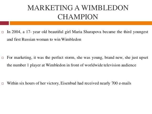 maria sharapova marketing a champion Marketing maria: managing the athlete endorsement.