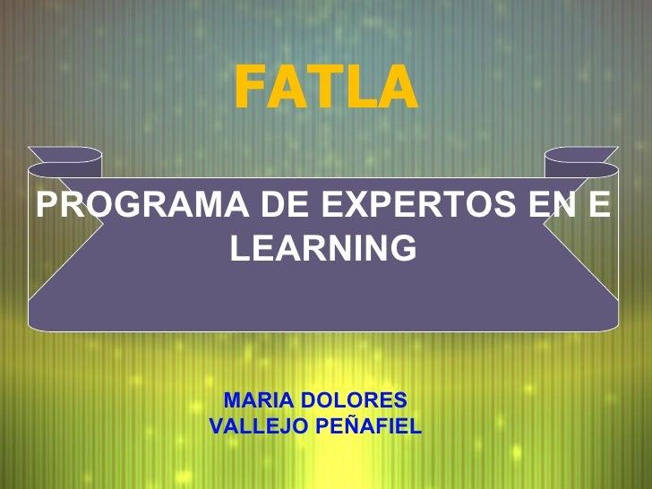FATLA PROGRAMA DE EXPERTOS EN E LEARNING MARIA DOLORES VALLEJO PE ÑAFIEL