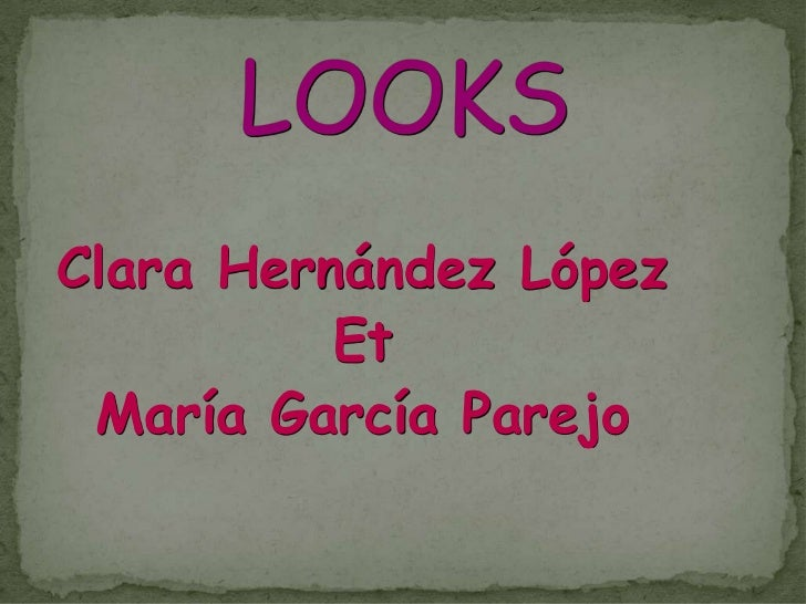 Clara Hernández López          Et María García Parejo