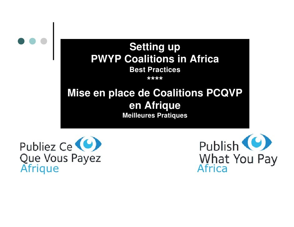 Setting up               PWYP Coalitions in Africa                       Best Practices                          ****     ...