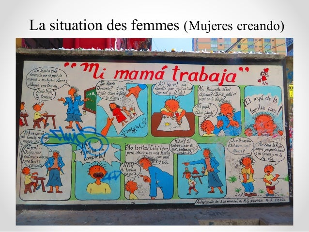 La situation des femmes (Mujeres creando)
