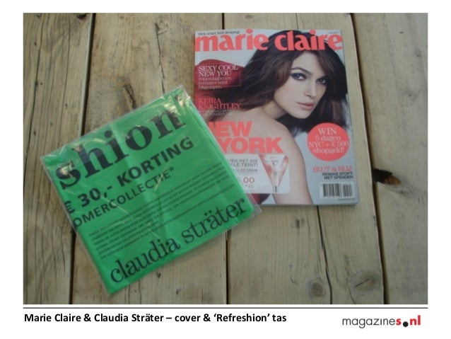 Marie Claire & Claudia Sträter – cover & 'Refreshion' tas