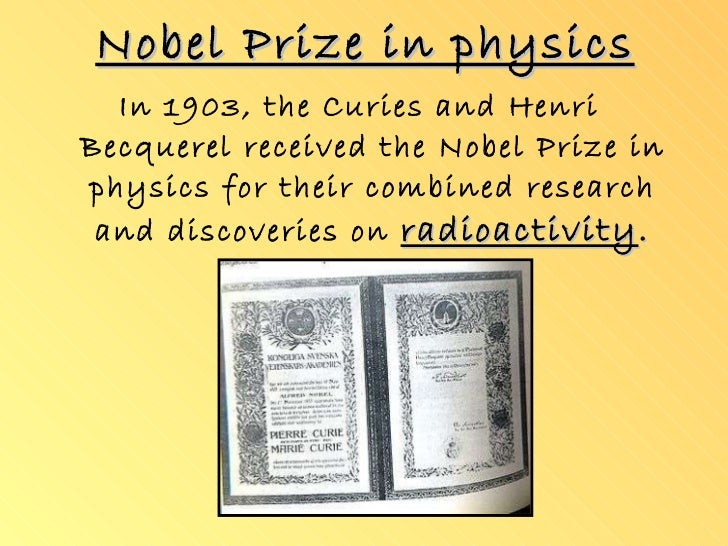 Many Prizes Curie How Marie Nobel