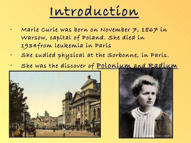 Madame curie death