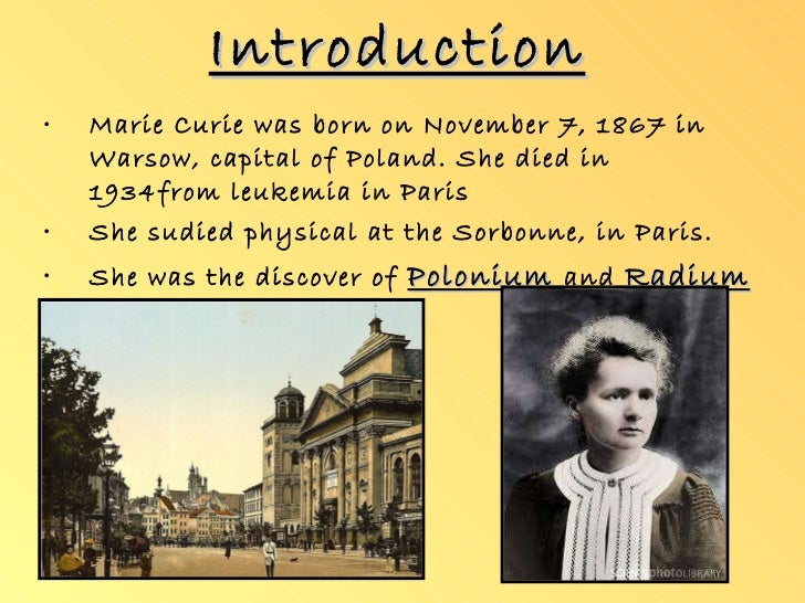 the life and studies of marie curie Marie skłodowska curie was a polish and naturalized-french physicist and  chemist who conducted pioneering research on.