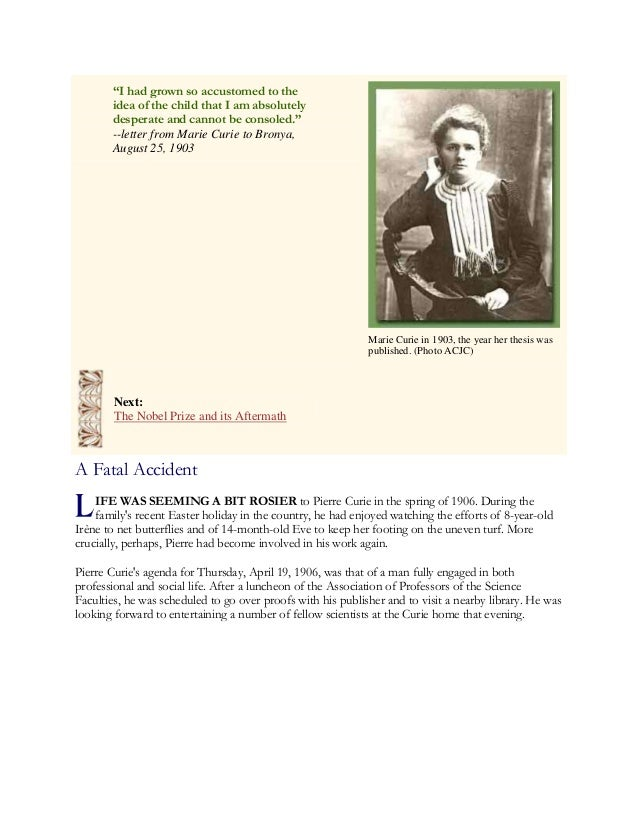 Marie curie doctoral thesis