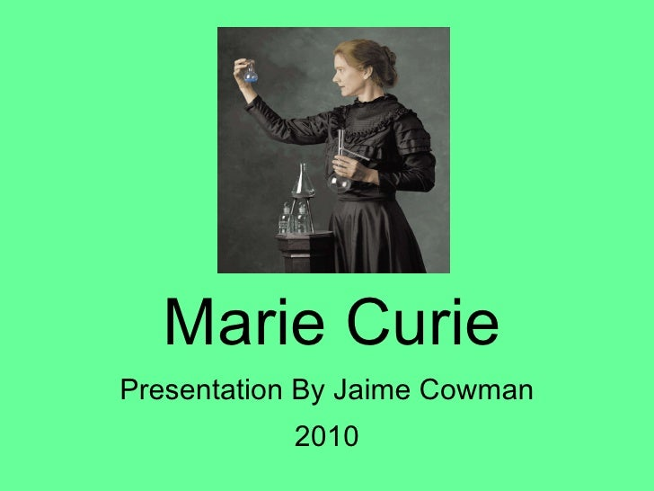 a report on marie curie Marie curie presentation by jaime cowman 2010 slideshare uses cookies to improve functionality and performance, and to provide you with relevant advertising if you continue browsing the site, you agree to the use of cookies on this website.
