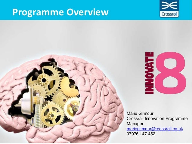 Programme Overview Marie Gilmour Crossrail Innovation Programme Manager mariegilmour@crossrail.co.uk 07976 147 452