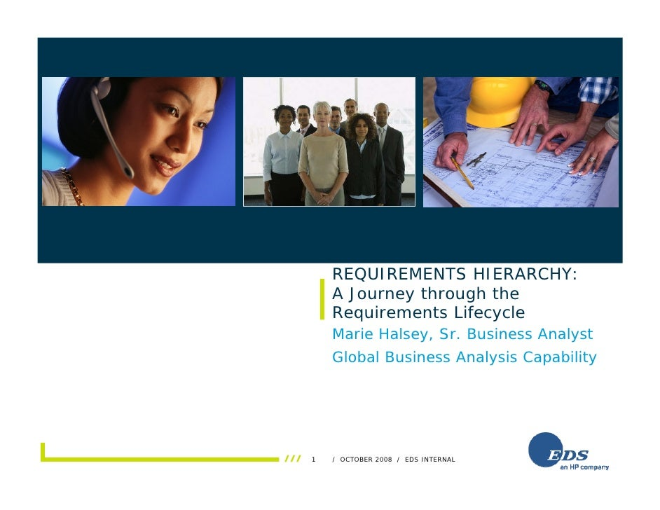 Insert photo here               REQUIREMENTS HIERARCHY:           A Journey through the           Requirements Lifecycle  ...