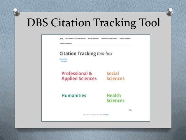 DBS Citation Tracking Tool