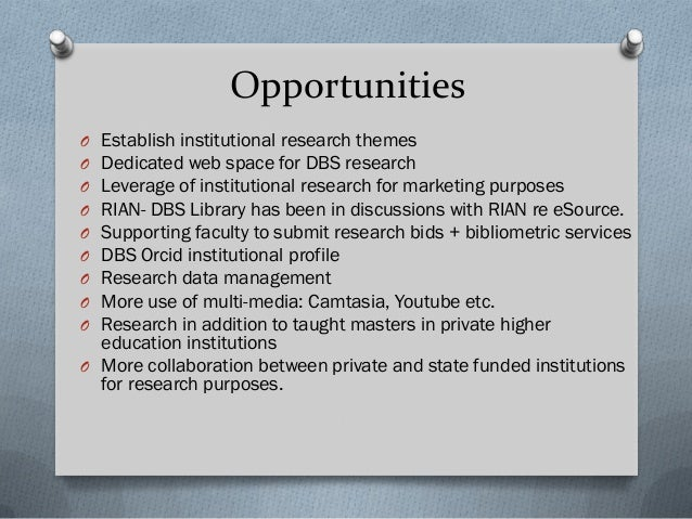 Opportunities Continued O Reference management classes for faculty (Zotero) O Some faculty have requested editing and proo...