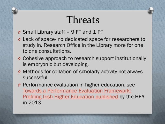 Towards a Performance Evaluation Framework: Profiling Irish Higher Education published by the HEA in 2013 'in recent years...
