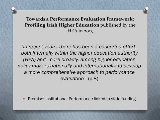 Example: HEA Higher Education System Performance First Report Volume II 2014 – 2016 Institutional and Sectoral Profiles 20...