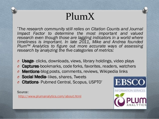 Example PlumX at the University of Pittsburgh