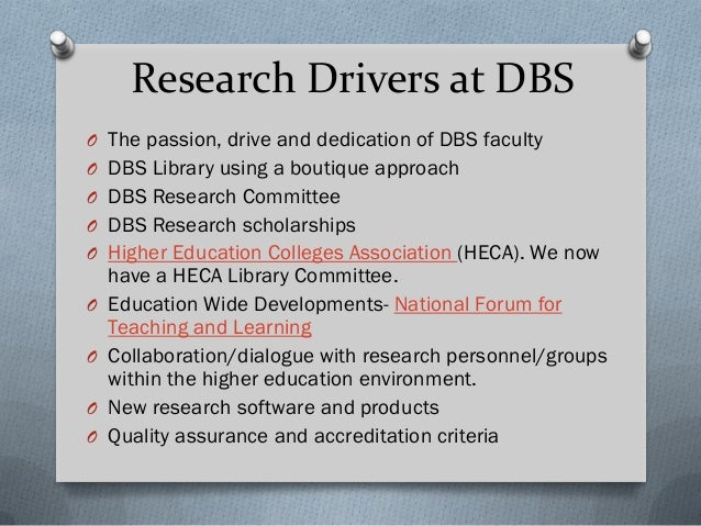 DBS Library Research Support to Date Strategic Plan/Research Development Plan Impact software PlumX Future Opportunities R...