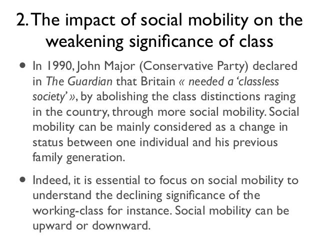 education and social mobility essay Social mobility and generational differences in income status in my family   neither of my parents had any experience of further education, nor.