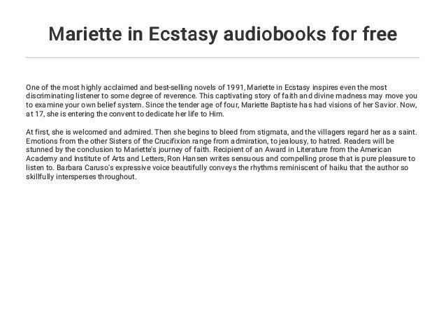 Mariette In Ecstasy Audiobooks For Free