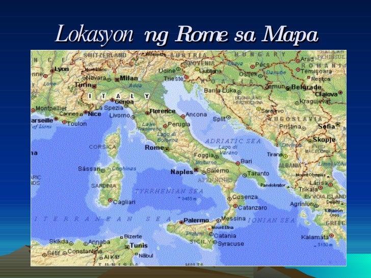 Lokasyon   ng Rome sa Mapa
