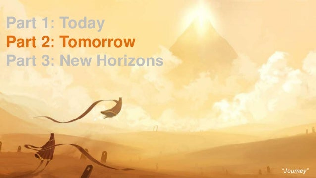 """23 Part 1: Today Part 2: Tomorrow Part 3: New Horizons """"Journey"""""""