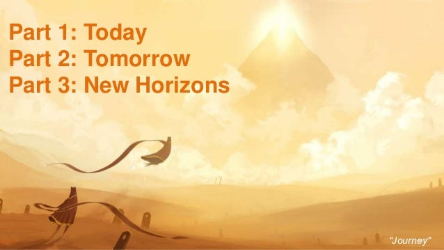 """3 Part 1: Today Part 2: Tomorrow Part 3: New Horizons """"Journey"""""""