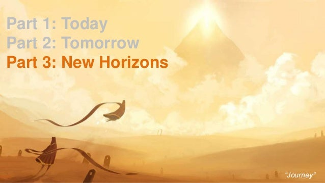 """39 Part 1: Today Part 2: Tomorrow Part 3: New Horizons """"Journey"""""""